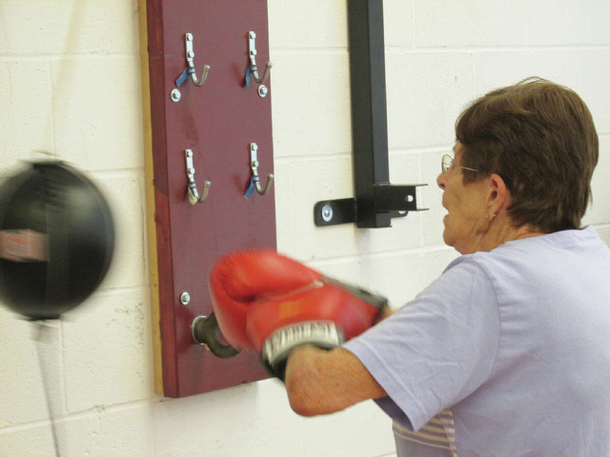 A Rock Steady Boxing participant in the first-of-its-kind program to combat Parkinson's disease by improving the quality of life of its sufferers.