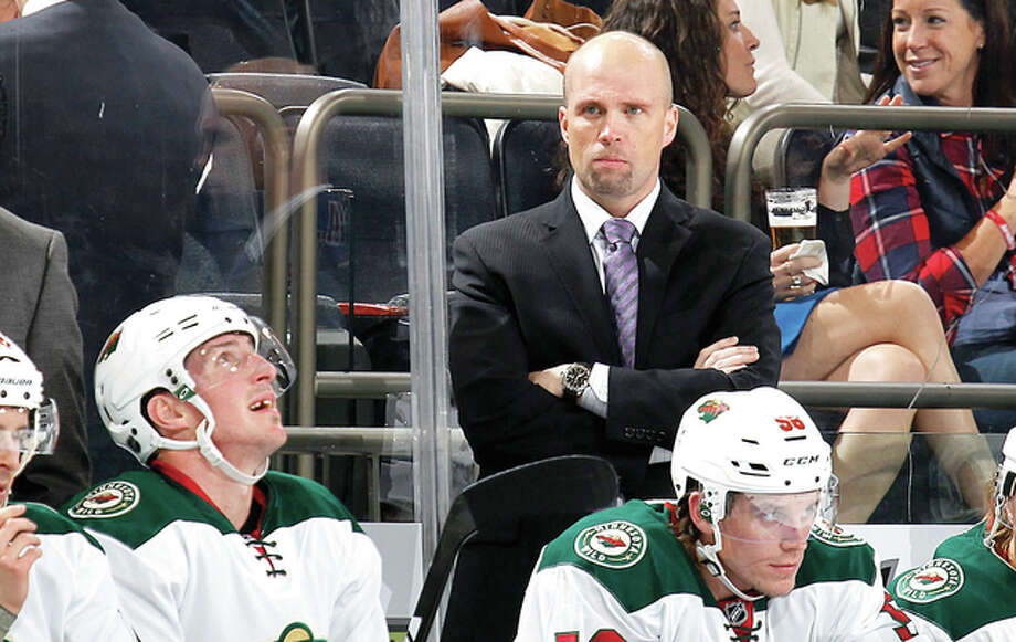 Former Minnesota Wild coach Mike Yeo join the Blues next season as an associate coach with head coach Ken Hitchcock and take over as head coach for the 2017-18 season after Hitchcock's retirement. Photo: AP File Photo