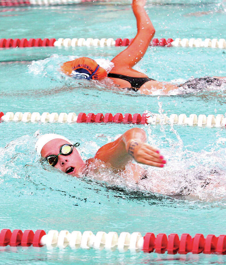 Summers Port's Jenna Fleming won the 13-14 girls 200-yard freestyle and was part of winning teams in the freestyle and medley relays in Thursday night's Sharks SWISA victory at Sunset Hills in Edwardsville.