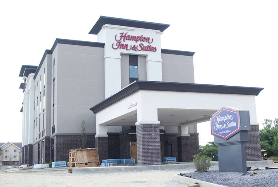 The Hampton Inn and Suites on Homer Adams Parkway in Alton will open in August after rain delays set construction back. Photo: Scott Cousins | The Telegraph