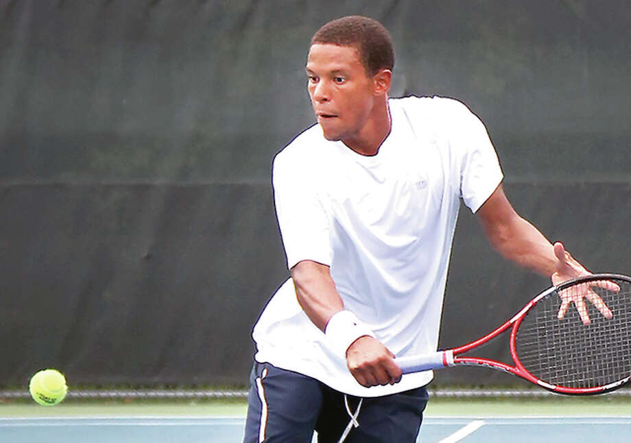 Julian Childers won the Men's Open title at last year's Bud Simpson Open tennis tourney. This year's tournament is set for this weekend at Lewis and Clark Community College. Photo: S. Paige Allen File Photo | For The Telegraph