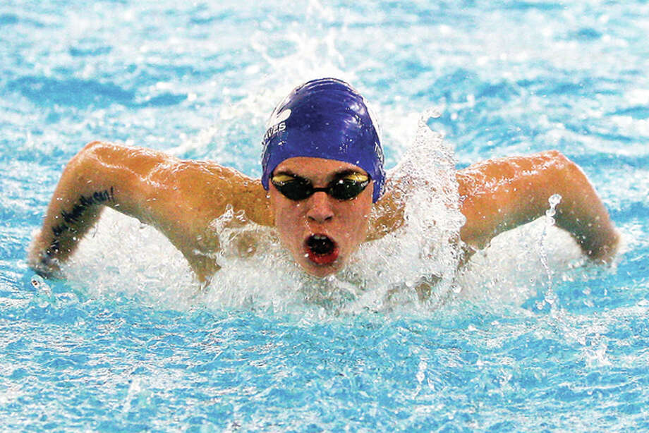 Summers Port's Matthew Daniel won the 15-18 boys 50-yard butterfly in Thursday' night's SWISA victory over the Splash City Gators of Collinsville. Daniel also won the 100 freestyle and the 100 individual medley. Photo: Telegraph File Photo