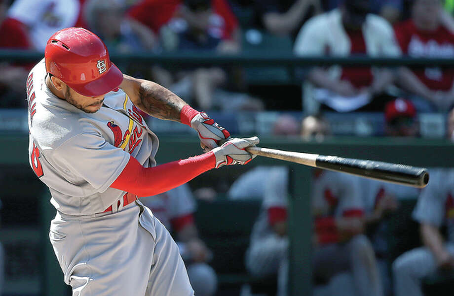 St. Louis Cardinals' Thomas Pham connects for a home run against the Seattle Mariners in the ninth inning of a baseball game Sunday, June 26, 2016, in Seattle. (AP Photo/Elaine Thompson) Photo: Elaine Thompson | AP Photo