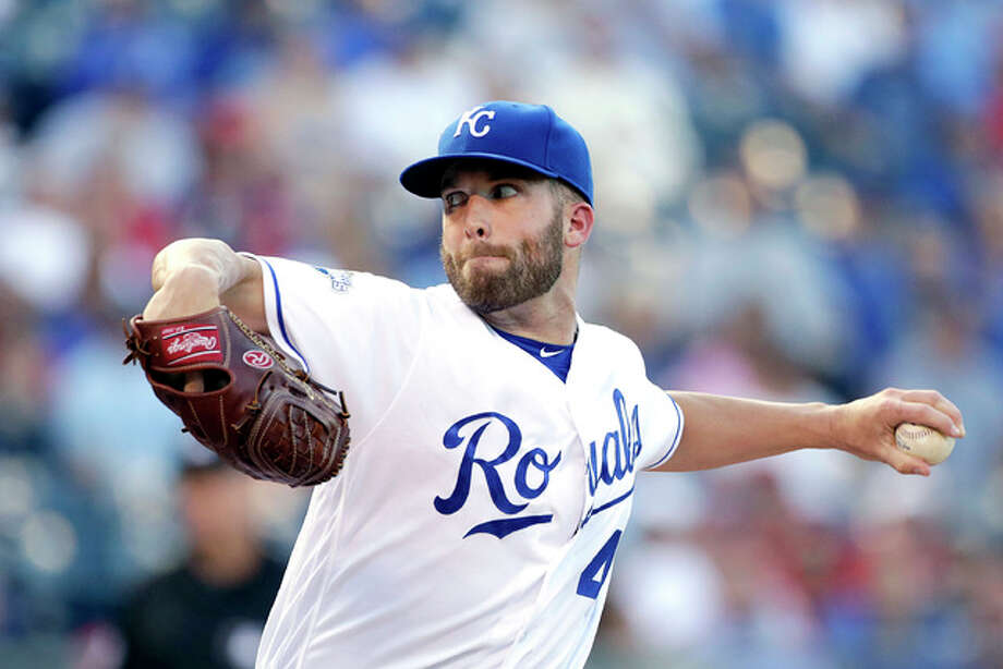 The Kansas City Royals' Danny Duffy pitches in the first inning Monday night against the Cardinals in Kansas City. Photo: AP Photo