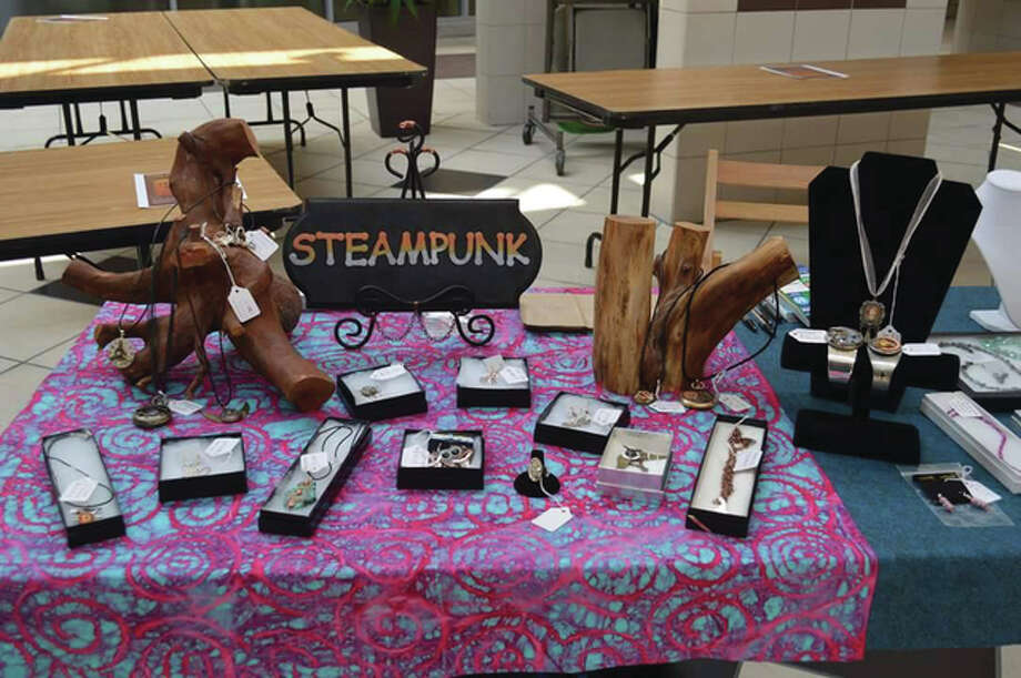 Artist Lori Hoffman will have a selection of steampunk jewelry and art. These works are geared towards the popularity of steampunk and cosplay artworks, which are quite popular. Photo: For The Telegraph