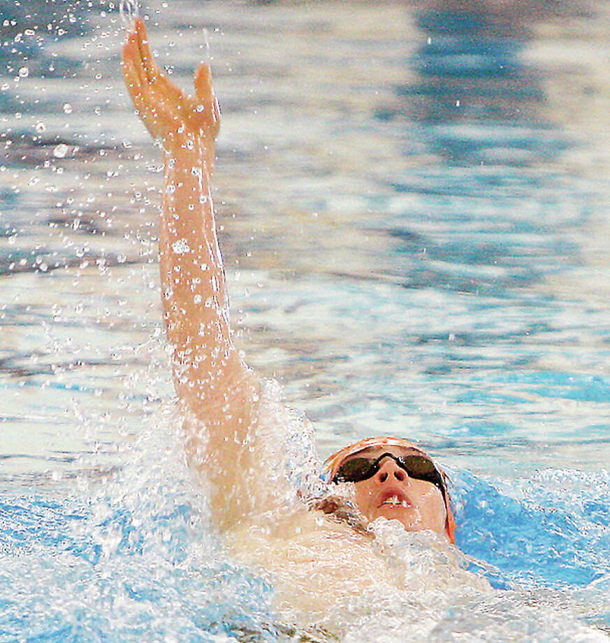 Former Edwardsville Breakers swimmer Sean Workman won his heat in the 200-meter backstroke prelims Thursday at the US Olympic Swim Trials in Omaha, Nebraska. Photo: Telegraph File Photo