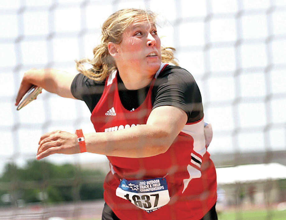 Kelsey Card of Carlinville finished third Friday in the prelims of the discus at the US Olympic trials in Eugene Oregon. The finals are set for Saturday Photo: File Photo