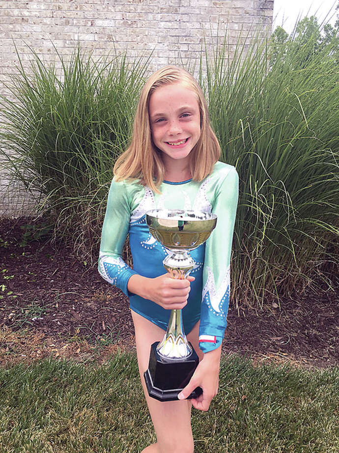 Mid Illinois gymnast Savannah Kirsch placed first in the 10-11 age group at the recent USA Gym Ninja Warrior Challenge held in conjunction with the Men's Olympic Gymnastic Trials and Womens Gymnastic P & G Championships.