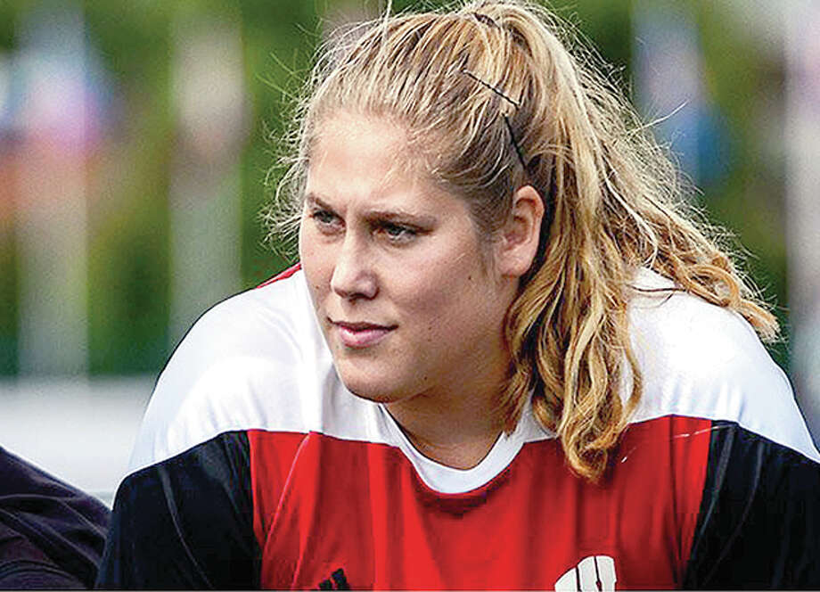 Carlinville native Kelsey Card has earned a spot on the US Olympic Track and field team in the discus. She was third at last weekend's Trials in Eugene, Oregon. Photo: Wisconsin Badgers Athletics