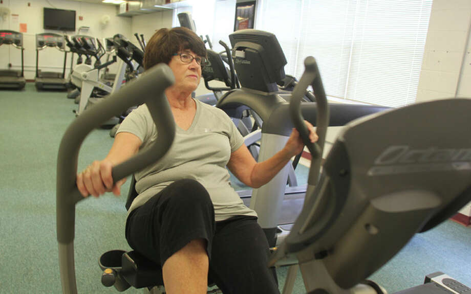 Barbara Ingram, of Alton, works out on one of the machines at the Wellness Center at Senior Services Plus. A $3.5 million expansion of the center is being planned, and organizers are about to enter a public phase of fundraising for the project.