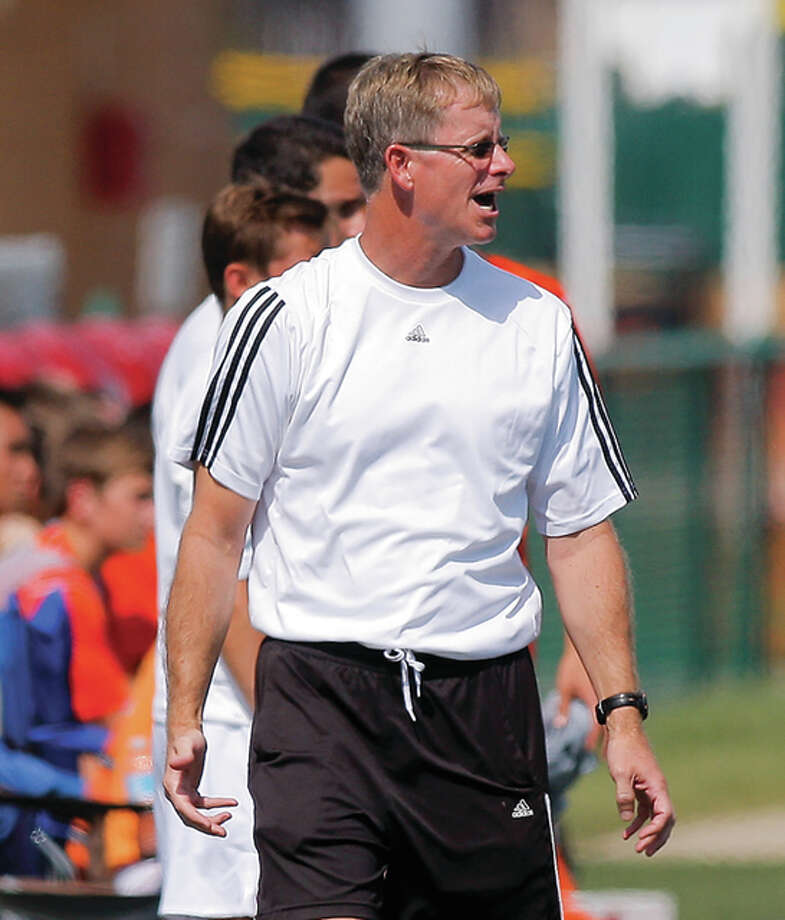 Edwardsville's Mark Heiderscheid is the 2015-16 Telegraph Large School Boys Soccer Coach of the Year.