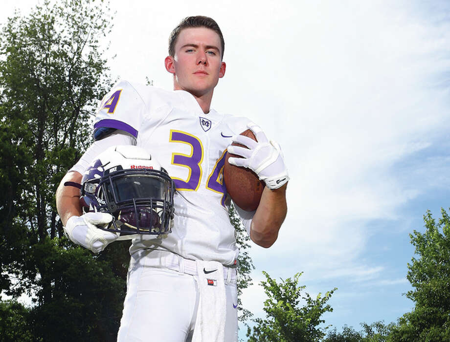 John Whitworth of Civic Memorial is the 2015 Telegraph Large-Schools Football Player of the Year. Photo: Billy Hurst | For The Telegraph