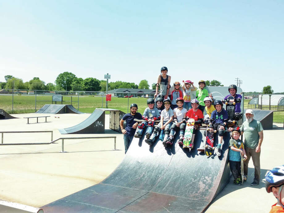 Newly formed SK8 CLUB shows off its form every Friday since it began several weeks ago. All-ages are welcome to join its fast-growing membership. The club's purpose is to get together with other skate enthusiasts. Photo: For The Telegraph