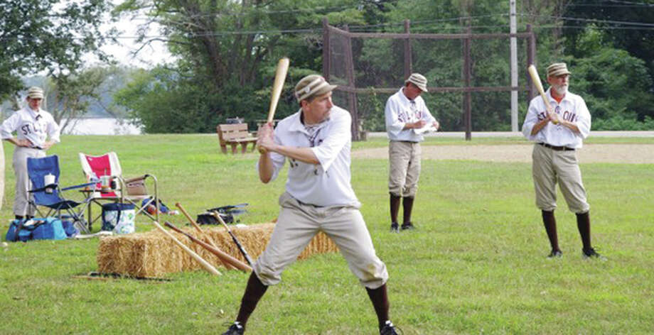 Three regional teams will play vintage base ball in Dolan Park in Jerseyville Saturday. The St. Louis Brown Stockings, Springfield Long Nine and Alton Giant BBC will play using 1860s rules. There will also be a market and ice cream social.