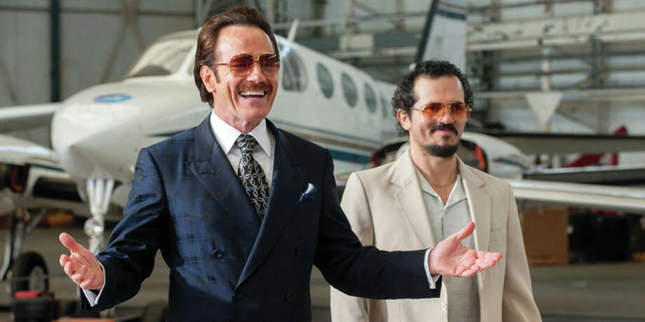 "In this image released by Broad Green Pictures, Bryan Cranston, left, and John Leguizamo appear in a scene from, ""The Infiltrator."" (Liam Daniel/Broad Green Pictures via AP)"