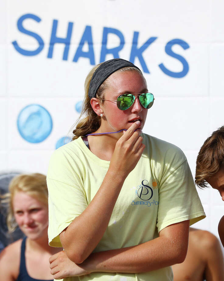 Summers Port dive coach Annie Evans will lead the Sharks into Saturday's SWISA Dive Championship meet at Paddlers in Granite City. Evans, in her first year as coach, was the 15-18 SWISA champion last season and is looking for her first league crown as a coach. Photo: Billy Hurst | For The Telegraph
