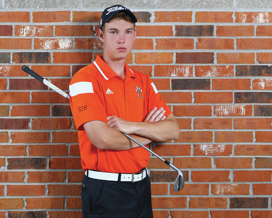 Edwardsville senior Justin Hemings is the 2015 Telegraph Boys Golfer of the Year. Hemings repeats as golfer of the year after winning the Class 3A state championship. Photo: Billy Hurst / For The Telegraph