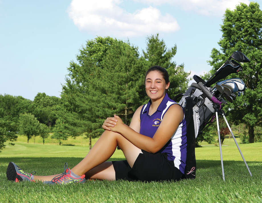 Civic Memorial senior Sara Gwillim is the 2015 Telegraph Girls Golf Player of the Year. Gwillim became CM's first girls golf all-stater by placing 10th at the Class 1A state tournament. Photo: Billy Hurst / For The Telegraph