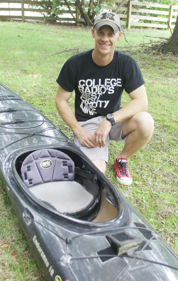 Logan Sims of East Alton will kayaking in the MR340, an 88-hour endurance race in the Missouri River from Kansas City to St. Charles. He will also be using the race to raise funds for the St. Louis-based nonprofit Friends of Kids With Cancer.
