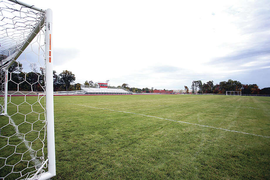 The year-old soccer field at Alton High is a major plus for the team, according to newly hired boys soccer coach Nick Funk. Photo: Telegraph File Photo