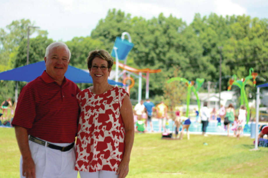 Gordon and Holly Broom made a $50,000 donation to the city's newest park, Leon Corlew Park.
