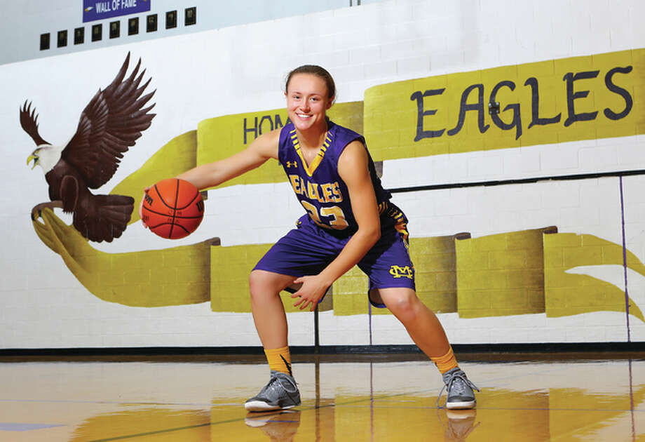 Civic Memorial junior Allie Troeckler is the 2016 Telegraph Large-Schools Girls Basketball Player of the Year. The SIUE recruit repeats the honor and enters her senior season just 118 points away from 2,000 for her career. Photo: Billy Hurst | For The Telegraph