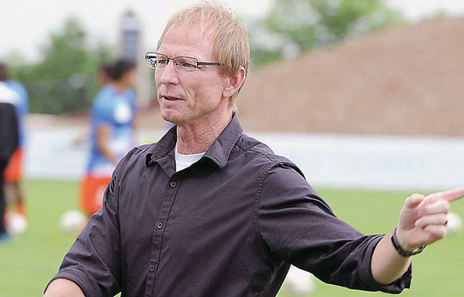 Colorado Springs Switchbacks FC head coach Steve Trittschuh, a Granite city native and former star for SIUE and the U.S. National Team, will lead his team against Saint Louis FC Saturday night at Soccer Park. Photo: USL Photo