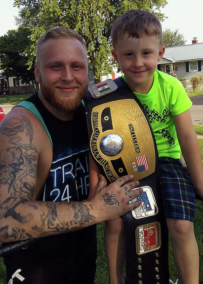 Shane Petrokovich, 27, of Wood River and his 4-year-old son, Hunter.