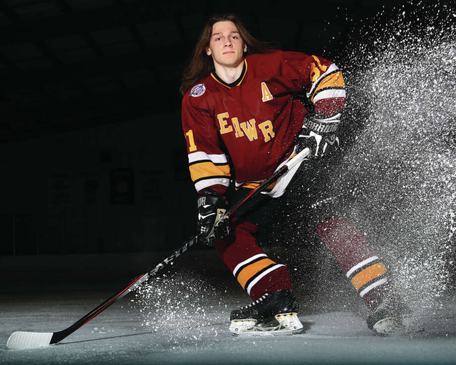 East Alton-Wood River's Cole Ford is the 2016 Telegraph Small-Schools Hockey Player of the Year. A repeat Player of the Year selection, Ford will play college hockey at SIUE recruit. Photo: Billy Hurst | For The Telegraph