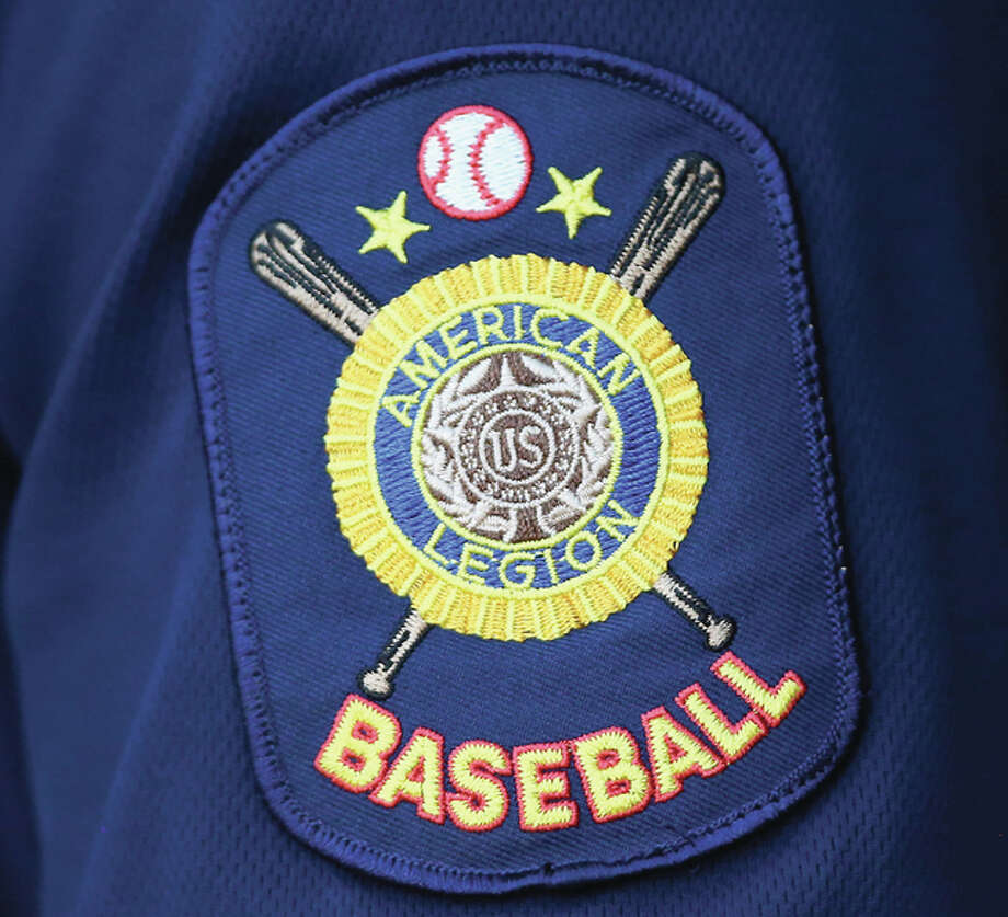 A detailed view of the Metro East Bears American Legion Baseball arm patch during the District 22 Playoffs against Fairview Heights at Lloyd Hopkins Field in Alton. Credit: Billy Hurst - For the Telegraph