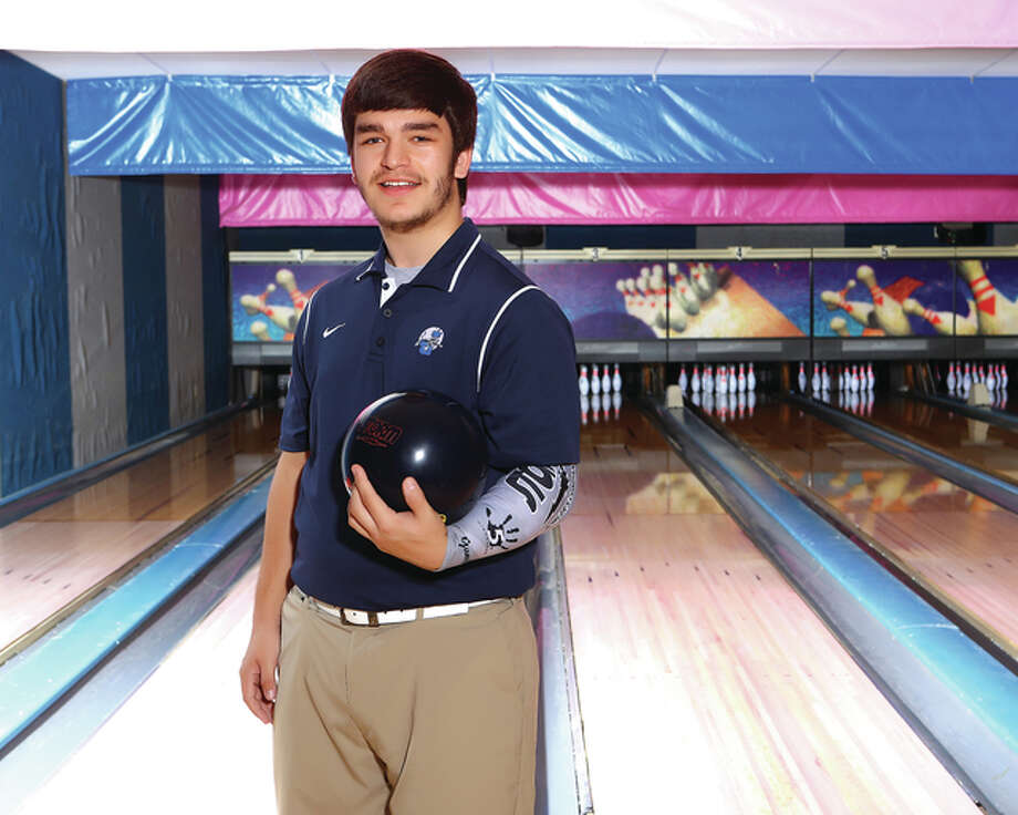 Jersey's Jeff Gump helped his team make it to the final day of the IHSA Boys State Bowling Tournament last season. the Panthers finished ninth and Gump was 21st in the state. He is The Telegraph Boys Bowler of the Year. Photo: Billy Hurst | For The Telegraph