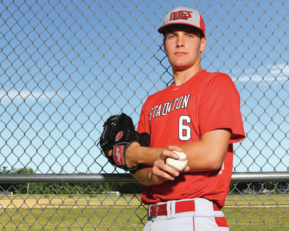 Staunton senior Austin Gusewelle is the 2016 Telegraph Small-Schools Baseball Player of the Year. The Illinois College recruit batted .549 with 37 RBI and five home runs, while putting up a pitching record of 7-2 with a 1.56 ERA. Photo: Billy Hurst / For The Telegraph