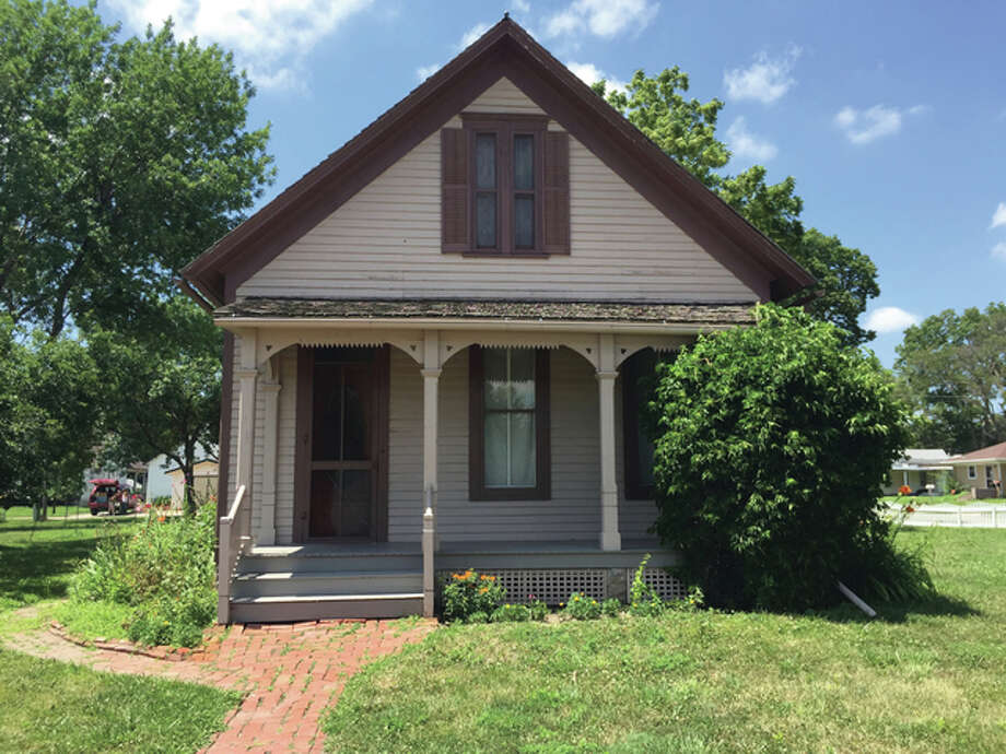 Famed Pulitzer Prize-winning author Willa Cather's first home in Red Cloud, Nebraska