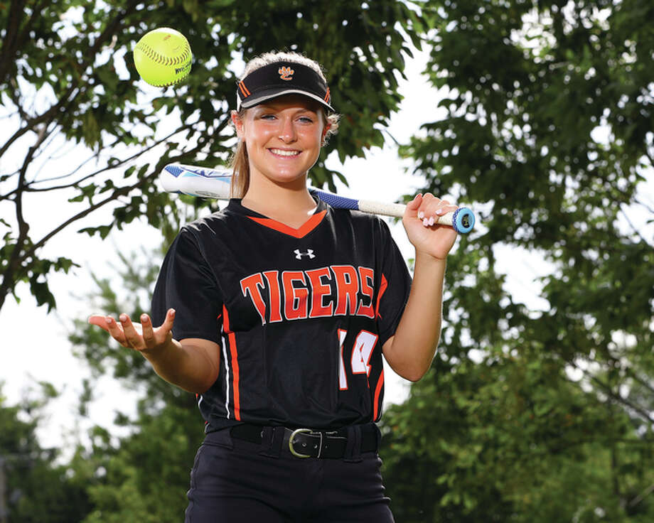 Edwardsville senior Rachel Anderson is the 2016 Telegraph Large-Schools Softball Player of the Year. The four-year starting outfielder for the Tigers will play Division I college softball at Southeast Missouri. Photo: Billy Hurst / For The Telegraph