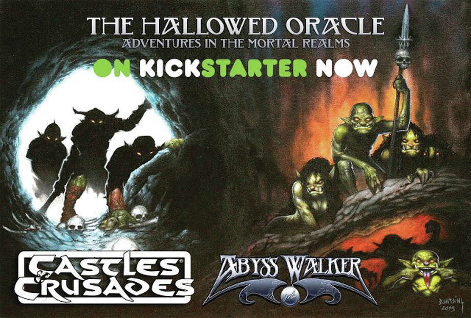 "Troll Lord uses the Kickstarter to pre-sale and gauge product interest. Gaming Fans can decide how in-depth this expansion becomes with the highest amount on Kickstarter being a source book written by Dungeons and Dragons legend, James Ward. Just go to www.kickstarter.com and search ""Castles & Crusades The Hallowed Oracle"" to find the link. Photo: For The Telegraph"
