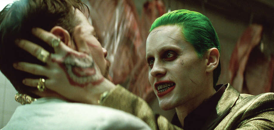 "Jared Leto as the Joker in a scene from ""Suicide Squad."""