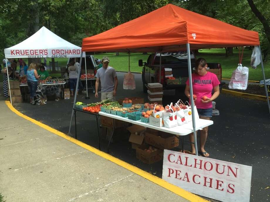 Despite an early frost, this year's Calhoun peach harvest is just as good as any other year. Calhoun County sits between the Illinois and Mississippi rivers, where moisture from the waters and the limestone bluffs seeps into the soil to make the peaches much more flavorful.