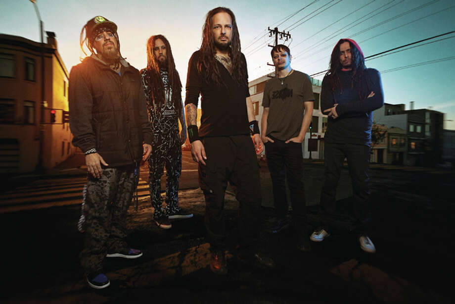 "Korn includes vocalist Jonathan Davis, guitarist James ""Munky"" Shaffer, guitarist Brian ""Head"" Welch, drummer Ray Luzier and bassist Reginald ""Fieldy""Arvizu, who all have played together since high school. Korn plays Tuesday night with Rob Zombie and In This Moment at Hollywood Casino Amphitheatre in Maryland Heights, Missouri. Photo: Photo Credit Terrence Blanton