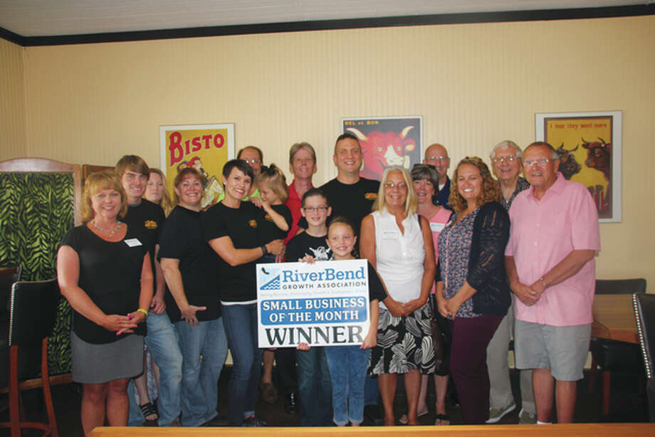 The Godfrey Meat Market was named RiverBend Growth Association Small Business of the Month for August.