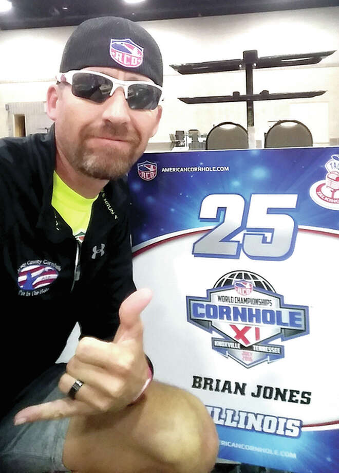 Brian Jones of Brighton, who started playing the game at a family barbecue, has become the world's top-ranked cornhole player and works full-time for the American Cornhole Organization. Photo: Submitted Photo