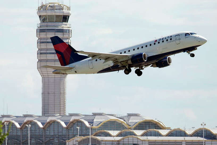 In this July 28, 2014 file photo, a Delta Air Lines jet takes off from Ronald Reagan Washington National Airport in Arlington, Va. Most restrictions on flights between the U.S. and Mexico will lift on Sunday, Aug. 21, 2016, a change expected to bring more options and possibly lower prices for travelers. American, Delta and Southwest have already announced that they will offer new flights across the border later this year. United is watching the demand for flights and will respond accordingly, a spokesman said.