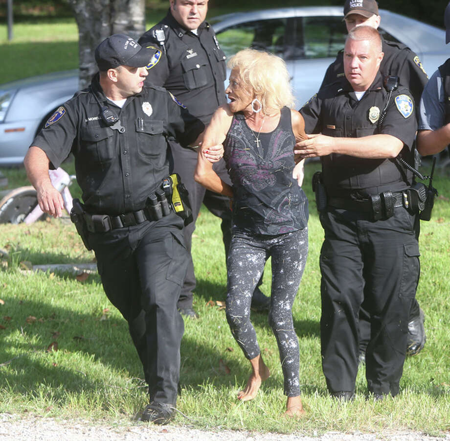 Woman, 77, and man fight Alton police officer, K9 - Alton