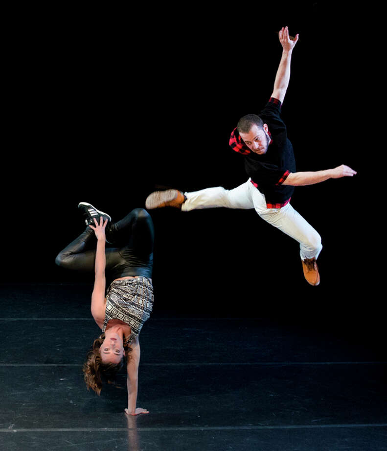 Members of the dance company Chicago Dance Crash perform. Photo: For The Telegraph