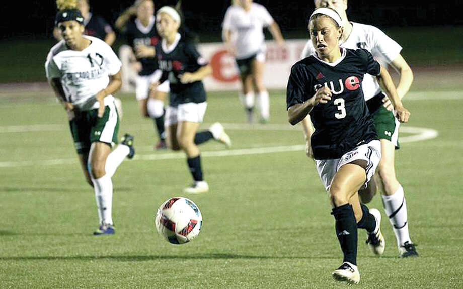 SIUE's Emily Grahl scdored her team's goal in Friday nigt's 2-1 loss at Denver. Photo: SIUE Athletics FIle Photo