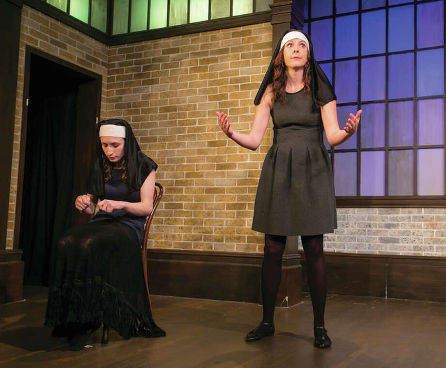 The Second City's Alison Gates and Liz Reuss performing on stage in Chicago. Photo: Photo Credit Todd Rosenberg For The Telegraph