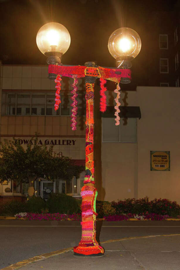 The Riverbend Yarn Bombers are knitting and crocheting colorful decorations for light poles, trees, fences and other public fixtures to add some liveliness to the streets. The group will be meeting in the lobby of Mineral Springs Mall from 6 to 8 p.m. every Tuesday leading up to the festival to coordinate and hang the work. Photo: For The Telegraph