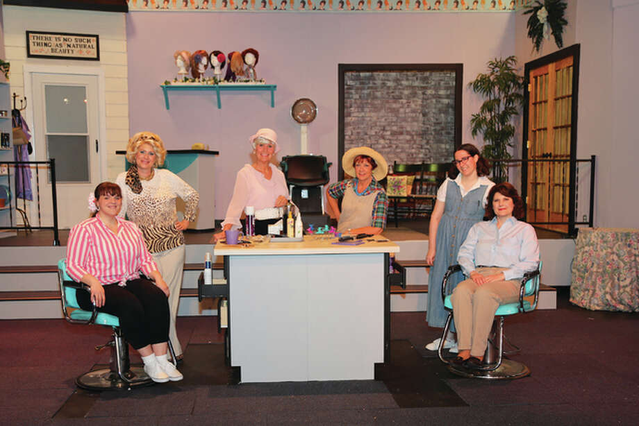 "Christy Luster, Kim Hillman, Kathy Bredenkoetter, Carol Hodson, Carolyn Florczyk and Debbie Maneke make up the cast of ""Steel Magnolias,"" opening Friday, Sept. 16, at Alton Little Theater."
