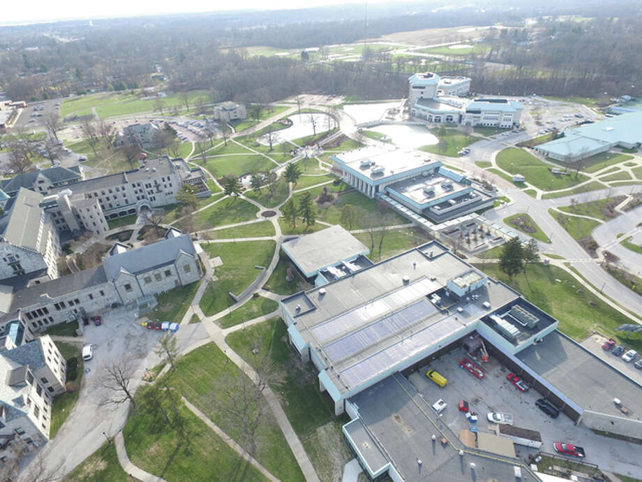 An aerial view of Lewis and Clark Community College's Godfrey campus. Photo courtesy LCCC.