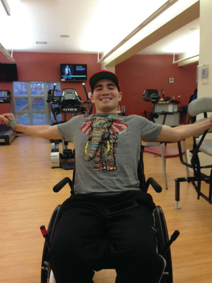 James Schwank, 23, of Godfrey, sustained a C6 spinal cord injury in the crash that occurred Dec. 21, 2014. He is paralyzed from the chest down, with limited use of his arms and hands. He is the son of Rick and Shellan Mogged Schwank. A benefit is being held for James Saturday, Nov. 21, to help pay the uncovered portion of medical expenses, accessible housing and special equipment needed for optimal recovery.