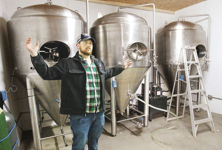 Richard Blevens, one of the owners of Templar Brewing, talks about his new operation located in the warehouse portion of the old Milton School building on Milton Road in Alton. The brewing operation is setting up in the new location.